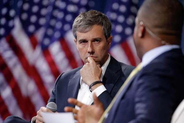 Democratic presidential candidate and former Texas Rep. Beto O'Rourke listens during a gun safety forum Oct. 2, 2019, in Las Vegas. On Friday, he announced that he has raised $4.5 million since July 1.