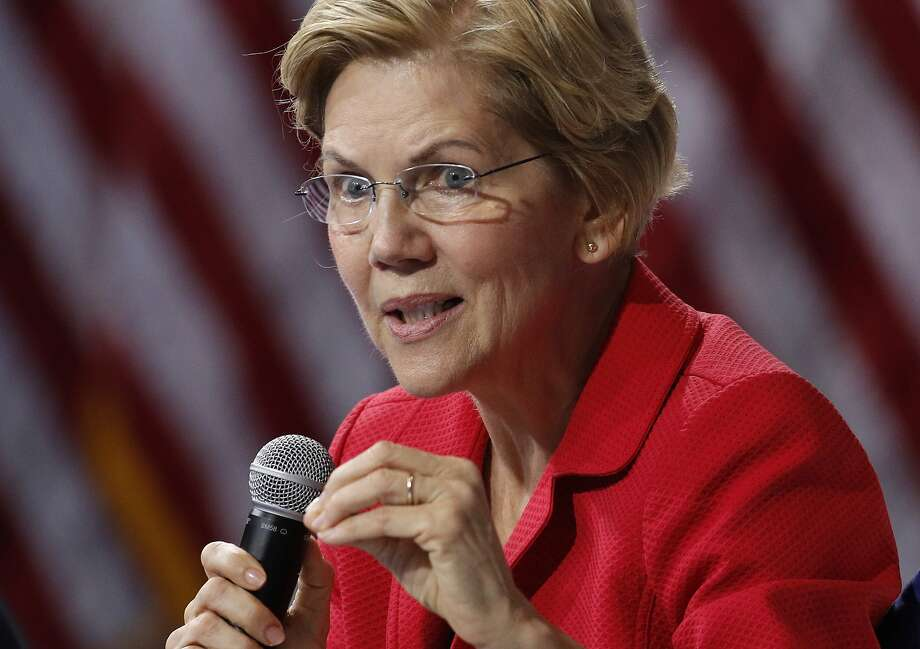 Democratic presidential candidate Elizabeth Warren has proposed breaking up big tech companies, gaining an ally in Texas Republican colleague Ted Cruz. Photo: John Locher / Associated Press