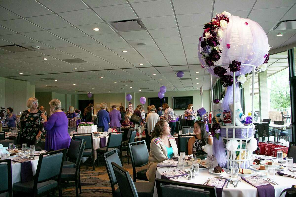FamilyTime's 8th Annual Purple Ribbon Luncheon filled the Kingwood Country Club banquet hall on Oct. 11, 2019 to raise awareness for domestic violence.