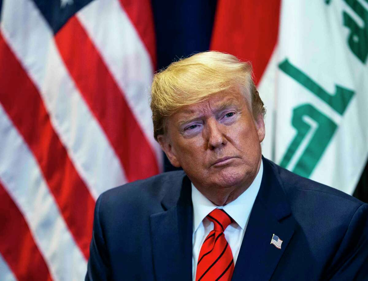 President Donald Trump meets with President Barham Salih of Iraq at the Lotte New York Palace, in New York, on Tuesday, Sept. 24, 2019. (Doug Mills/The New York Times)