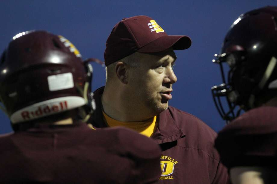 Deckerville head coach Bill Brown will lead his Eagles against visiting International Academy of Flint in the opening round of the MHSAA playoffs on Friday night. Photo: Mark Birdsall/Huron Daily Tribune