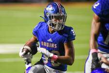 West Brook's Jordan Guidry runs the ball down the field during the first half of the game at BISD's Memorial Stadium Friday night. Photo taken on Friday, 10/11/19. Ryan Welch/The Enterprise