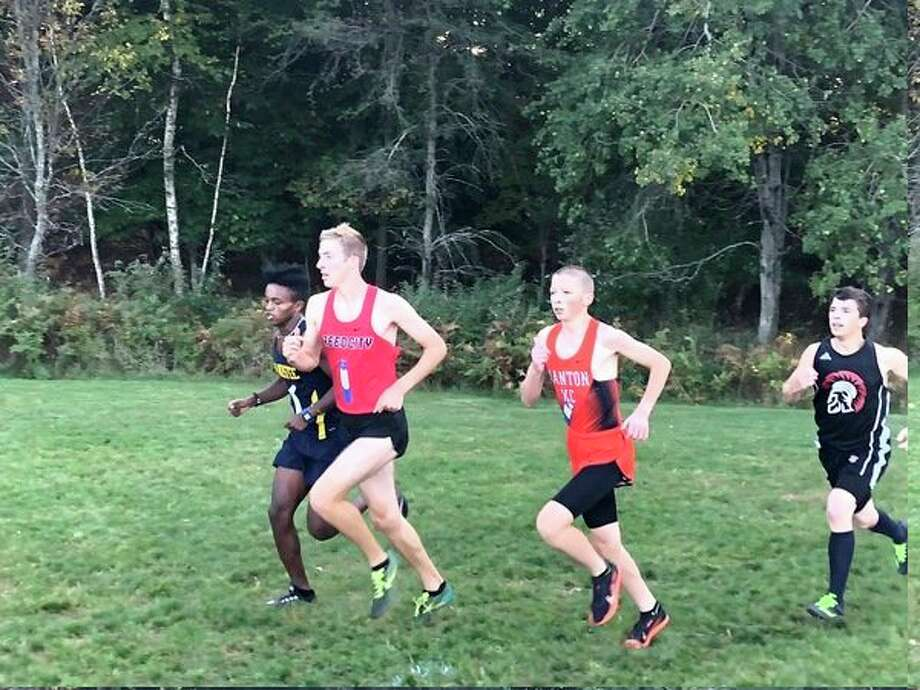 Reed City's Calvin Rohde works on his stride during the Manistee Invitational on Thursday. (Courtesy photo)