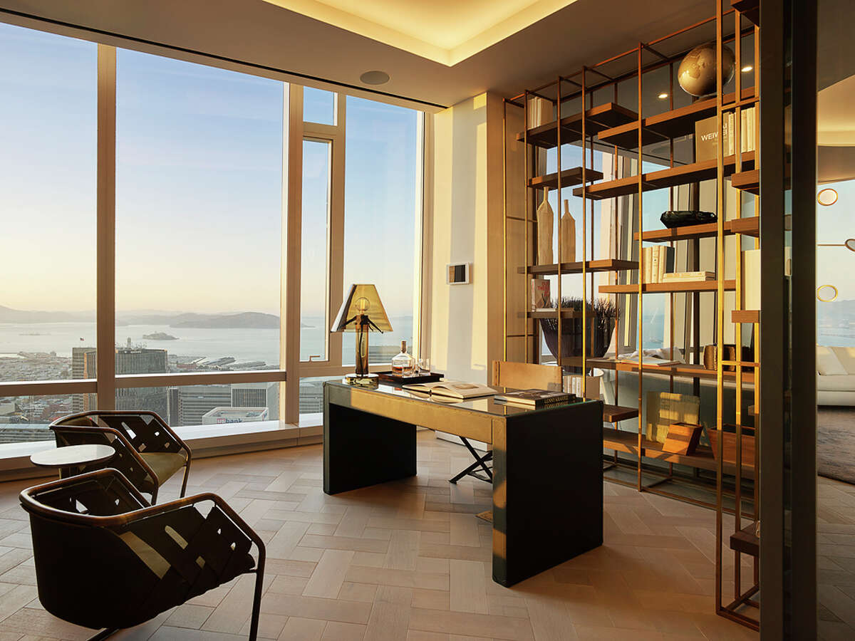The grant penthouse at 181 Fremont in San Francisco features 6,941 square feet spread across an entire floor with stunning 360-degree views.