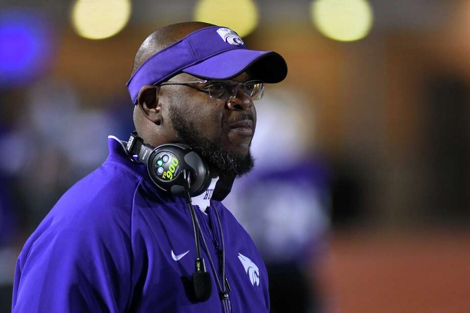 Humble Head Coach Charles West watches his team as they take the field for the 2nd half against Summer Creek in their District 22-6A matchup at Turner Stadium on Oct. 11, 2019. Photo: Jerry Baker, Houston Chronicle / Contributor / Houston Chronicle