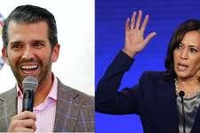 Donald Trump Jr. and California Sen. Kamala Harris.