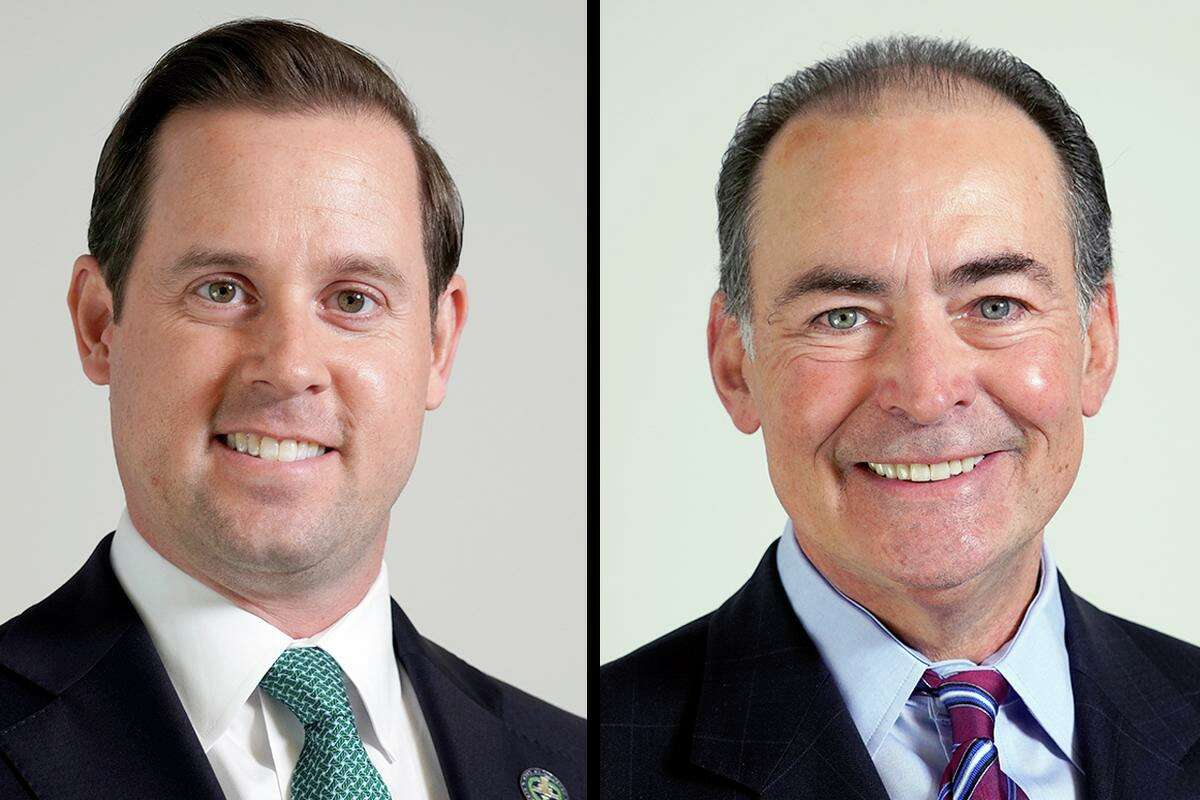 Candidates for Houston City Controller, Chris Brown, left, and Orlando Sanchez, right.