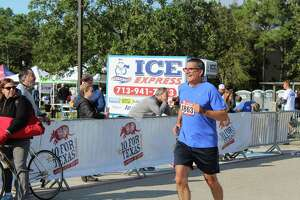 Thousands of runners braved the chilly temperatures Saturday morning, Oct. 12, in The Woodlands — powering through the 10 for Texas running event which ended in a large celebration at Northshore Park with food, refreshments and activities.