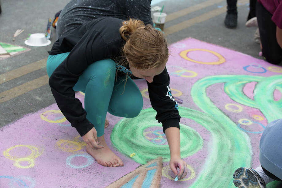 Artpace hosted Chalk It Up on Saturday, October 12, 2019 downtown for San Antonians of all ages to enjoy the chalk fun. Photo: B. Kay Richter