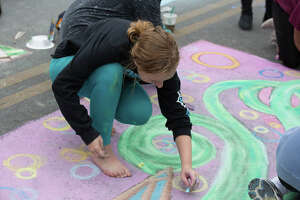 Artpace hosted Chalk It Up on Saturday, October 12, 2019 downtown for San Antonians of all ages to enjoy the chalk fun.