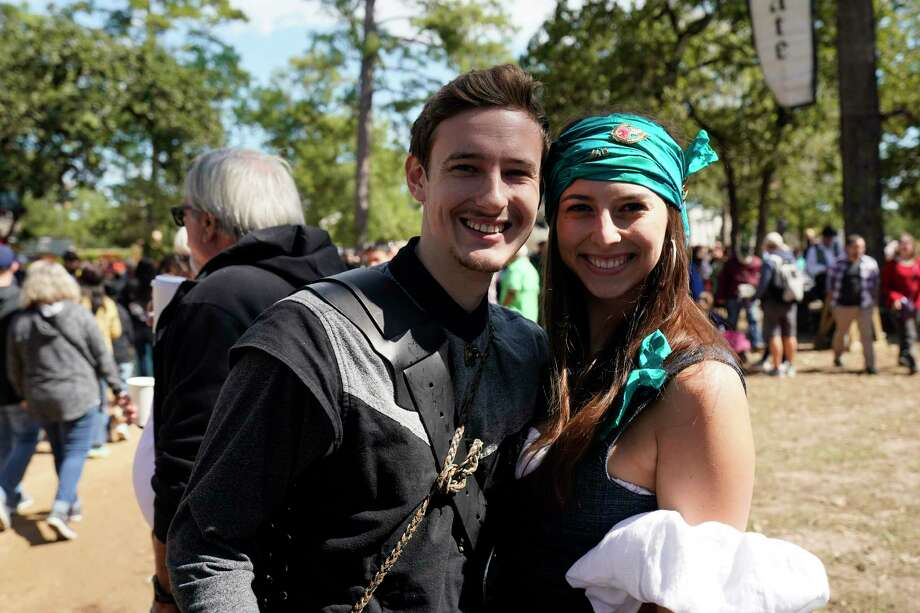Spectators and performers are shown at the Texas Renaissance Festival Saturday, October 12, 2019, in Todd Mission. Photo: Melissa Phillip, Houston Chronicle / Houston Chronicle