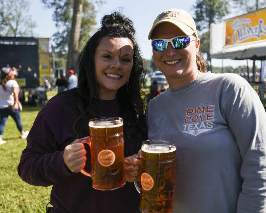 People enjoy beer, food and live music at Beaumont's Oktoberfest Saturday afternoon. Photo taken on Saturday, 10/12/19. Ryan Welch/The Enterprise Photo: Ryan Welch/The Enterprise