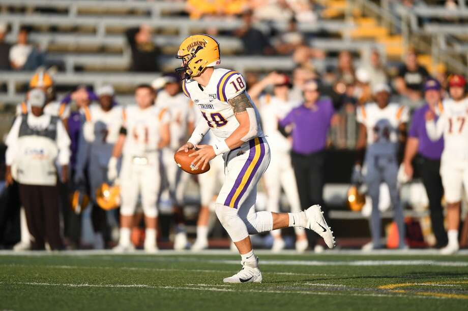 UAlbany quarterback Jeff Undercuffler threw for 380 yards and a pair of touchdowns against Towson on Saturday. (ENP Photography) Photo: ENP Photography