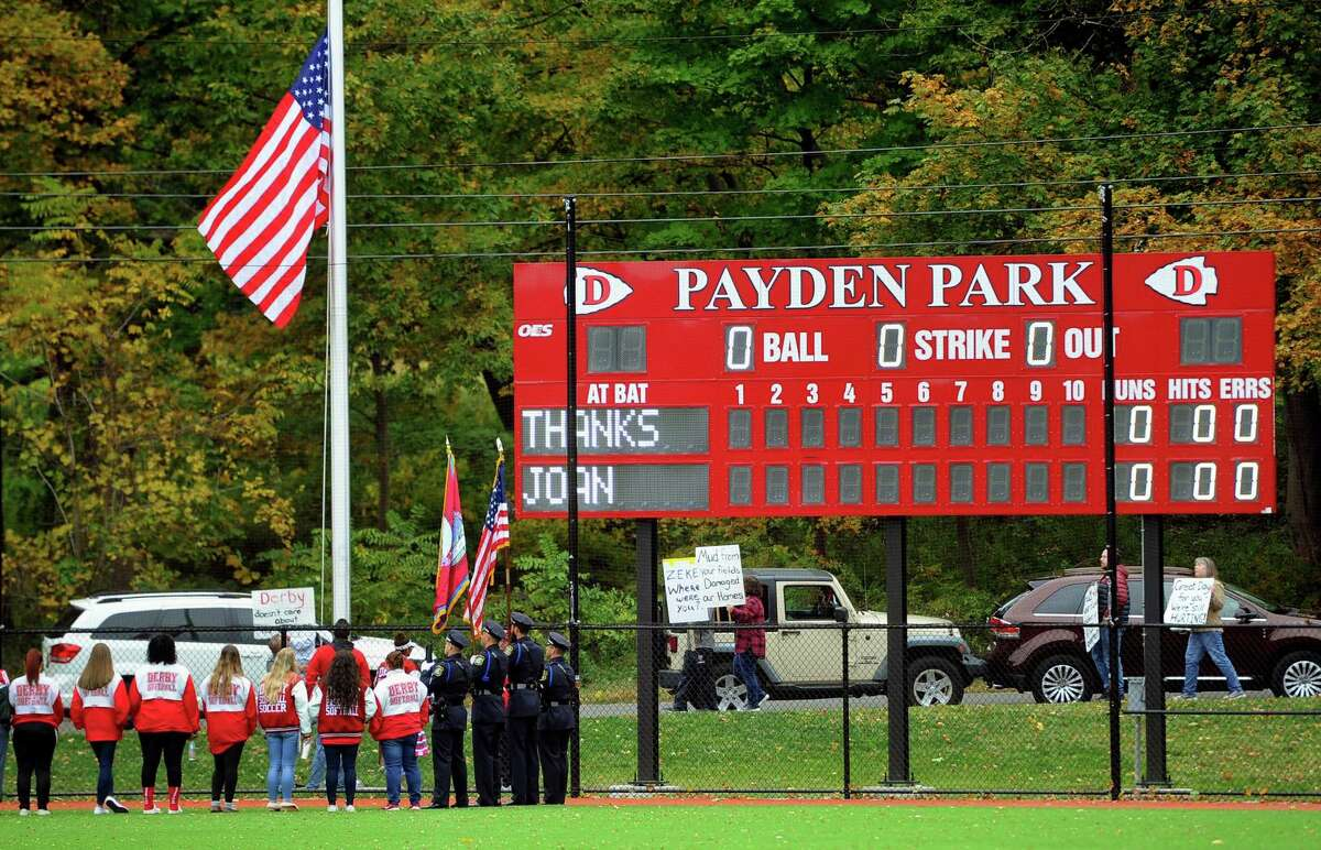 A dedication ceremony was held for the J.R. Payden Field House in Derby in October. Payden donated $23 million for the reconstruction of the Derby High baseball and softball fields as well as the building of the Joseph R. Payden Field House. Her father was the 1915 valedictorian of Derby High.