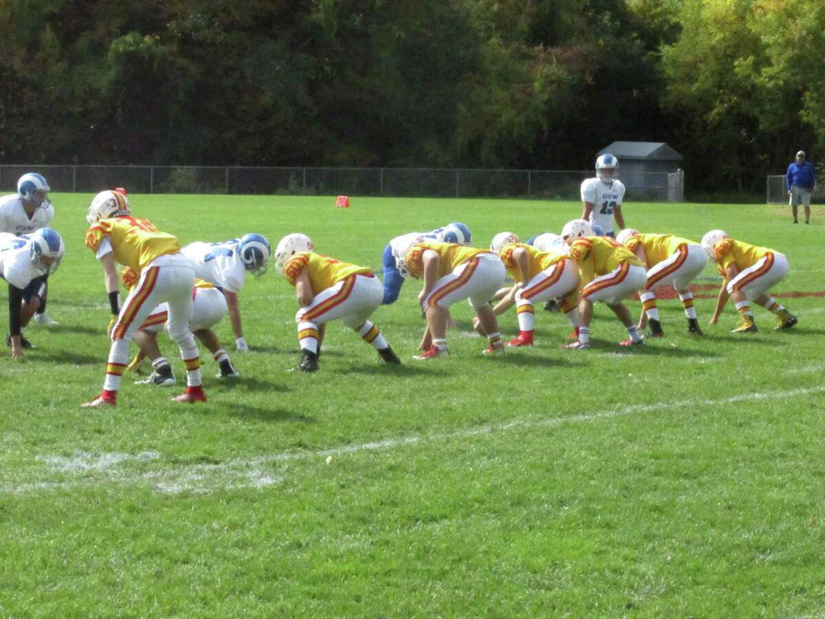 Gilbert/Northwestern evened its season record Saturday in a win over Old Saybrook/Westbrook on a missed field goal in the final seconds of a high school classic at The Gilbert School..