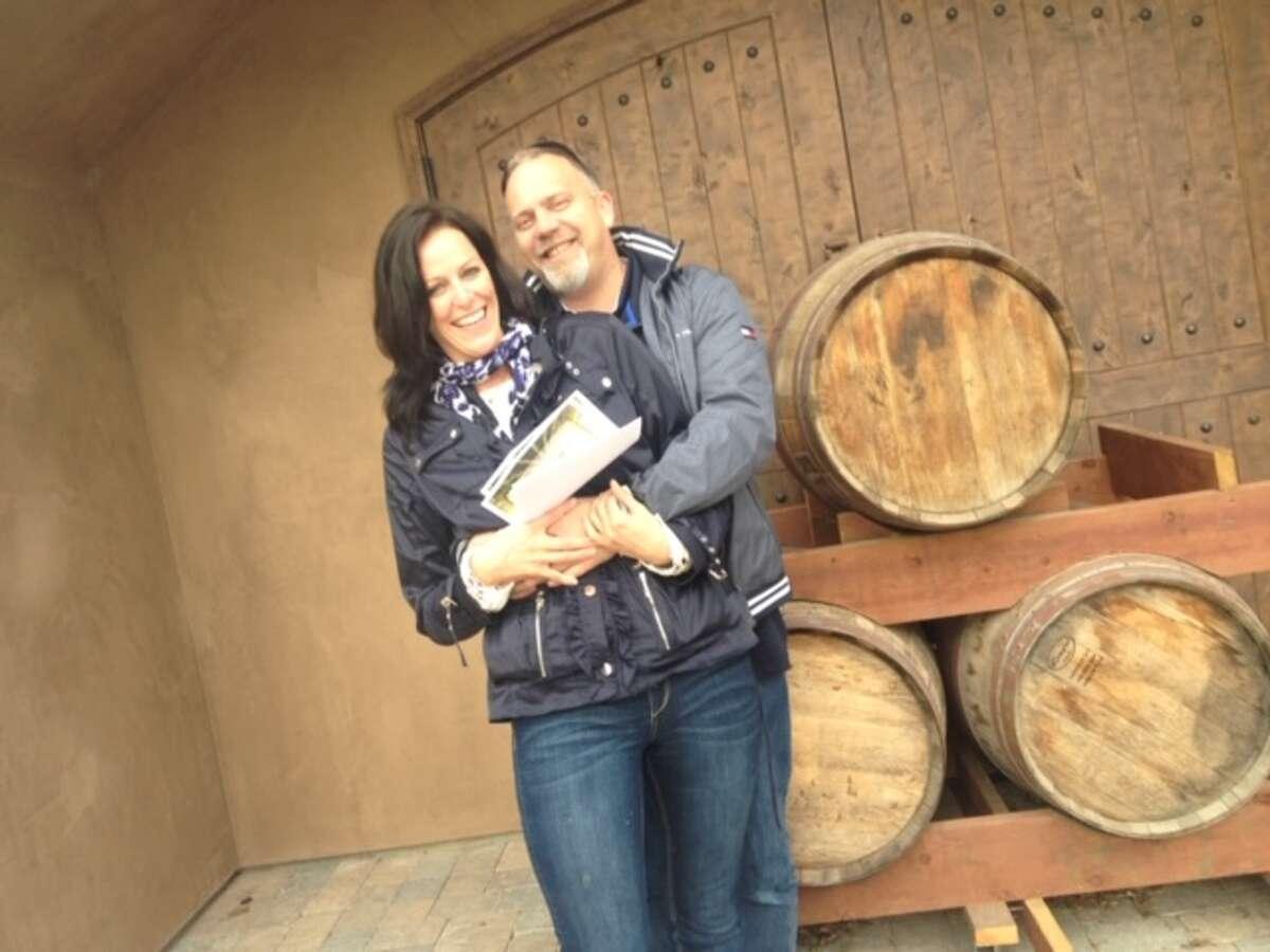 Deborah Hanlon and her fiance, Greg.