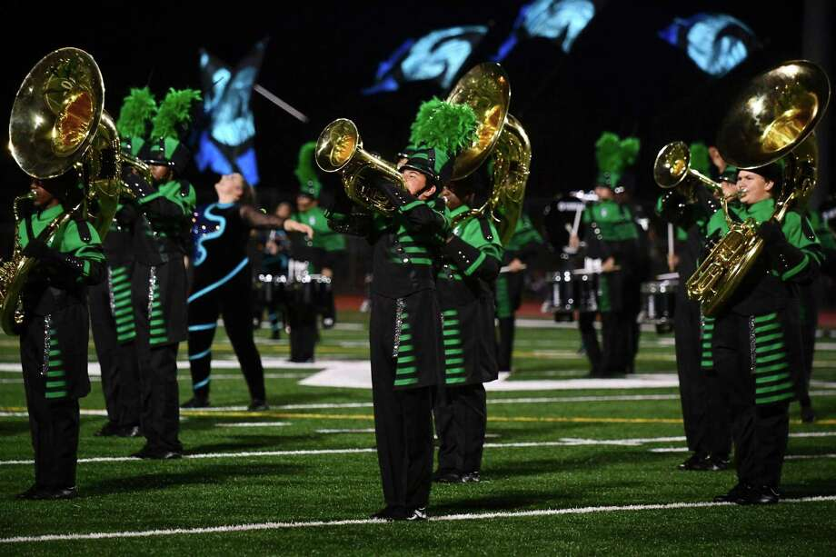 Norwalk High School Marching Band perform their halftime field show for exhibition as Norwalk High hosts The Cavalcade of Bands Saturday, October 12, 2019, at the school in Norwalk, Conn. Photo: Erik Trautmann / Hearst Connecticut Media / Norwalk Hour