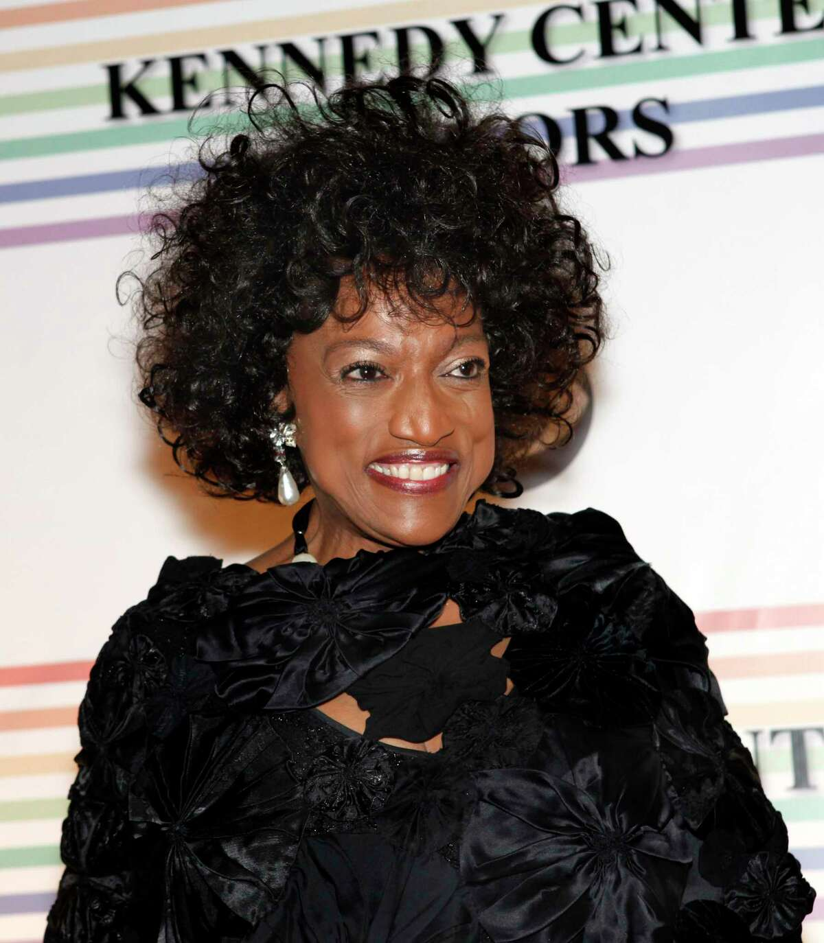 FILE - This Dec. 5, 2010 file photo shows opera singer Jessye Norman at the Kennedy Center Honors in Washington. Norman died, Monday, Sept. 30, 2019, at Mount Sinai St. Lukea€™s Hospital in New York. She was 74. (AP Photo/Jacquelyn Martin, File)