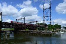 The aging Metro-North Walk Bridge in Norwalk. Gov. Ned Lamont is expected to introduce a modest tolling scheme as part of the 10-year, $18 billion transportation plan he is preparing to roll out as soon as this week.