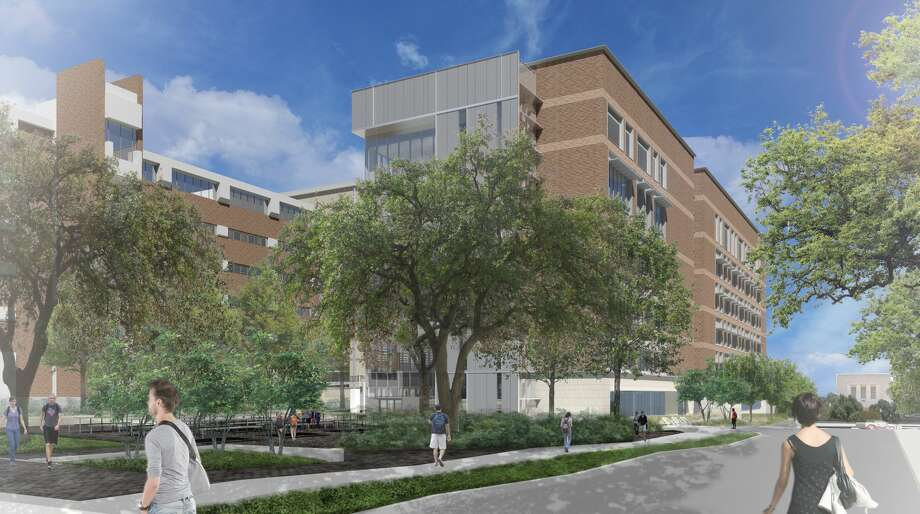 This view from Speedway shows the Gary L. Thomas Energy Engineering Building, set to open in the fall of 2021. Photo: Photo Courtesy Cockrell School Of Engineering,  The University Of Texas At Austin