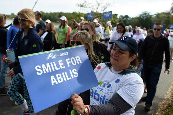 Photos from the 13th annual Walk/Run for Abilis at Greenwich Point Park in Old Greenwich, Conn. Sunday, Oct. 14, 2018. Participants in the 5K run and one-mile family-friendly accesible walk/run helped raise money for Abilis, the non-profit that provides services and support for those with special needs and their families. The 14th annual event will take place on Oct. 20.