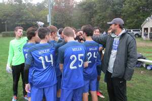 The Lewis Mills boys soccer team, seen here last season while playing in the Berkshire League, is is 4-4-1 this year in its first season in the CCC.