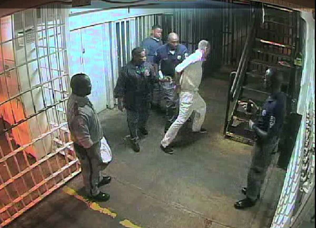 David Witt jerked away from officers before Sgt. Lou Joffrion took him to the ground, slamming him to hard he died. The entire interaction was caught on prison camera footage reviewed by the Chronicle.