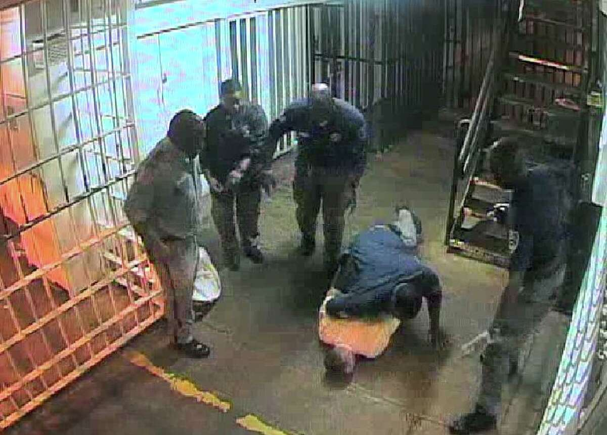 Sgt. Lou Joffrion slammed inmate David Witt to the ground so hard he later died. The interaction was recorded by the Darrington Unit cameras and reviewed this week by the Chronicle.