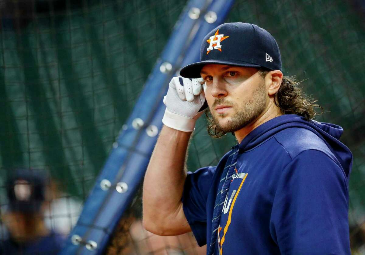 PHOTOS: Astros players' contract situation this offseason Jake Marisnick warms up during batting practice before Game 2 of the American League Championship Series on Sunday at Minute Maid Park. >>>Browse through the photos for alook at the contract situation for each Houston Astros player this 2019-20 offseason ...