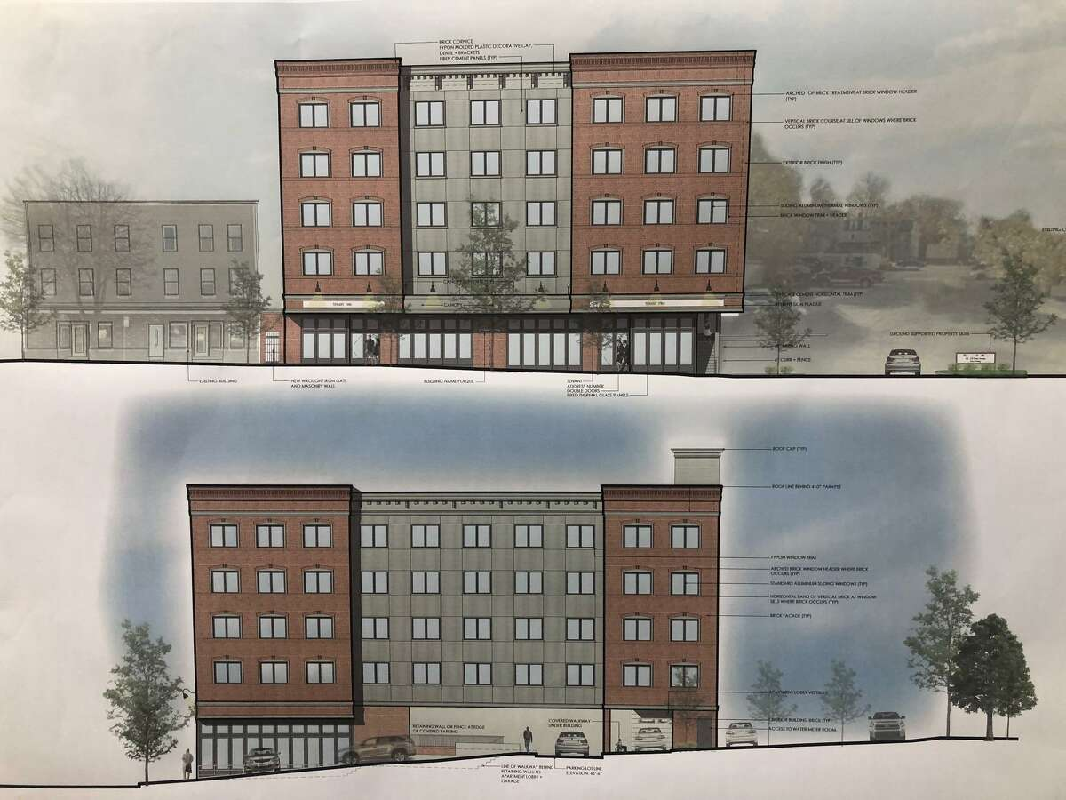 Riverwalk Place Apartments, at 356-358 Howe Avenue, will be a mixed-use development featuring two retail spaces, 35 apartments and the required parking.