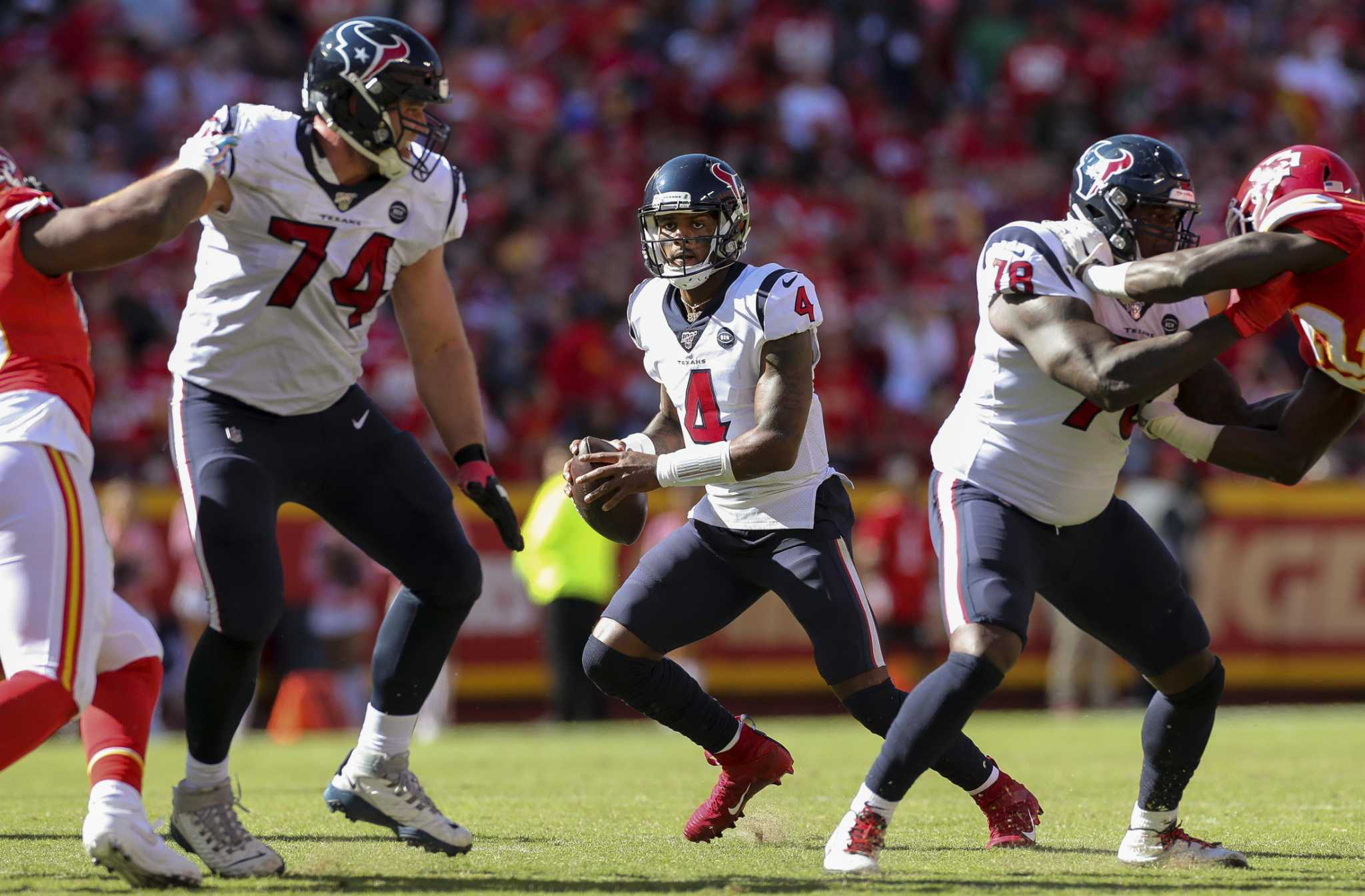 Texans offensive line taking on a WWE-like mentality