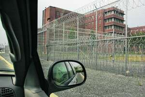 View from the perimeter of the exterior of the Central New York Psychiatric Center in Marcy, N.Y. Thursday August 15, 2002, as seen from an official vehicle.