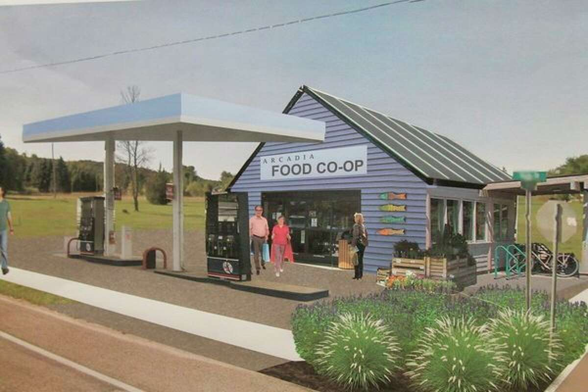 This food co-op and mini mart was one of several proposed concepts mocked up based on community input. (Courtesy photo)