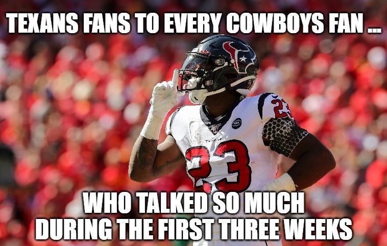 Hilarious memes praise Texans' win, mock Cowboys' loss