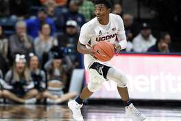 UConn's Alterique Gilbert was named All-Second Team at the American Athletic Conference Media Day.