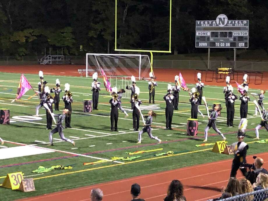 Trumbull High School Golden Eagle Marching Band. Photo: Contributed Photo /