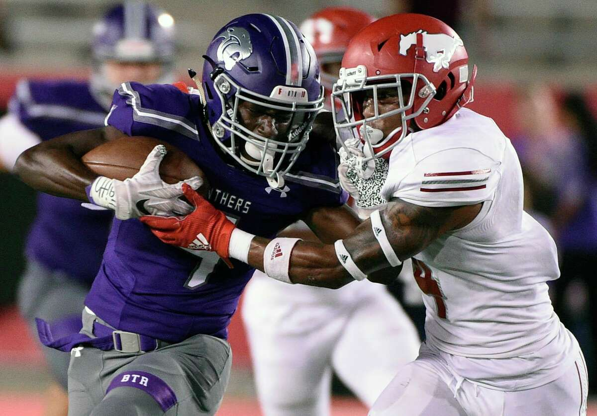 Defending state champion North Shore, shown earlier in the season against Ridge Point, opens its title defense on Friday vs. Dobie at Galena Park ISD Stadium.