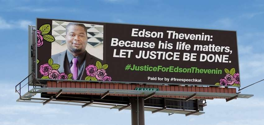Kat Sullivan, a former Emma Willard student who says she was shipped away from the school after she reported being raped by a teacher in 1998, has turned over her use of a billboard in downtown Albany to the family of Edson Thevenin, the 37-year-old man who was shot and killed by a Troy police sergeant on April 17, 2016.