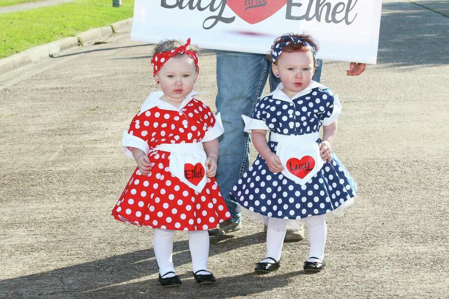 Twin sisters Lila and Ava Monk came to the Annual TVE Baby Parade dressed as Lucy and Ethel. They are the daughters of Asa and Rebecca Monk. The theme for the 2019 Parade was Hollywood. Photo: David Taylor / Staff Photo