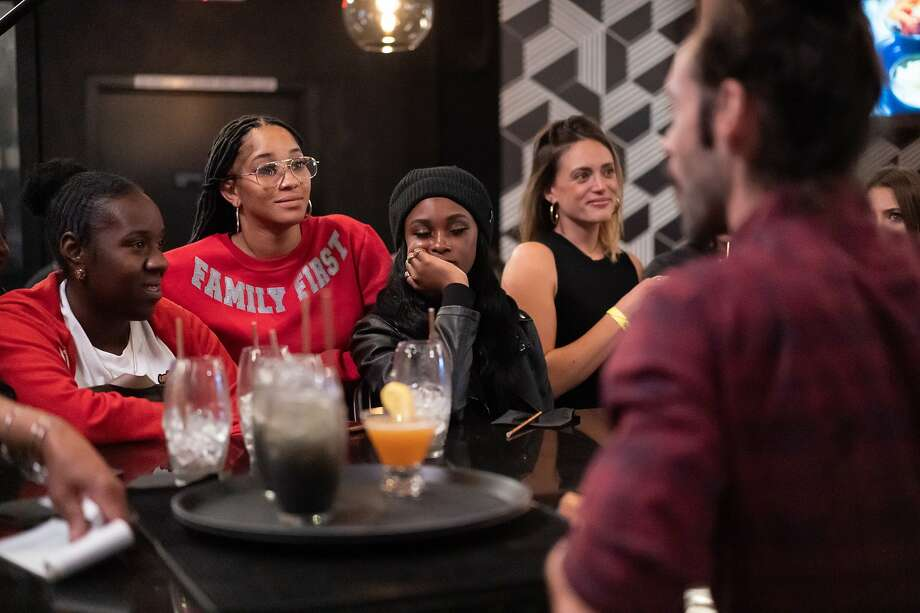 """Customers at Marshawn Lynch's East Bay restaurant, Rob Ben's, during filming of an episode of """"Bar Rescue."""" Photo: Paul Kuroda / Special To The Chronicle"""