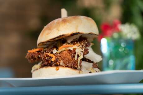 The Korean fried chicken sandwich at The Dutch Door on Sunday, Sept. 29, 2019, in Napa, Calif. Photo: Paul Kuroda / Special To The Chronicle