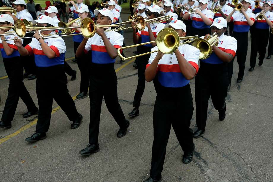 West Brook High School's band performs during the Beaumont Martin Luther King Jr. Day Parade from his horse on Saturday morning.  Photo taken Saturday 1/14/17 Ryan Pelham/The Enterprise Photo: Ryan Pelham / Ryan Pelham/The Enterprise / ©2017 The Beaumont Enterprise/Ryan Pelham