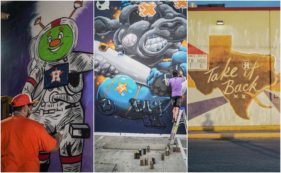 PHOTOS: Astros murals around HoustonAfter every Astros playoff win, a local artist will construct a mural overnight in honor of the team. If all goes to plan, Houston could have a total of 11 new Astros murals by the end of the playoffs.>>>See where the newest Astros murals have popped up in Houston... Photo: Courtesy Houston Astros