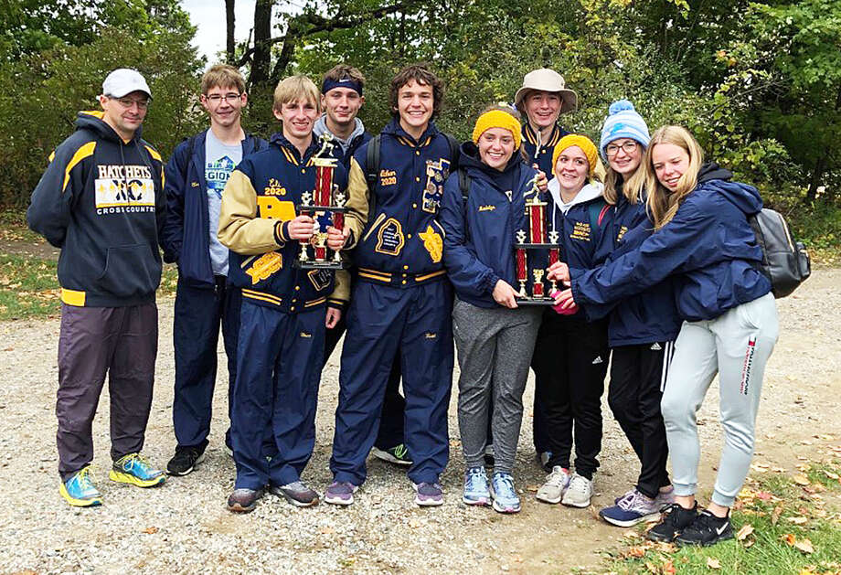 The Bad Axe boys and girls cross country teams finished first at the Dave Patterson Challenge Invite in Mayville. Photo: Submitted Photo
