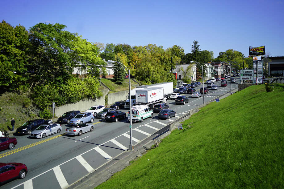 A view looking east on Hoosick Street on Monday, Oct. 14, 2019 in Troy, N.Y.  (Paul Buckowski/Times Union) Photo: Paul Buckowski, Albany Times Union / (Paul Buckowski/Times Union)
