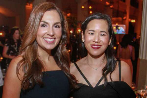 EMBARGOED FOR SOCIETY REPORTER UNTIL OCT. 15 Julie Chen, left, and Stephanie Fleck at the Children's Museum of Houston gala at The Corinthian on October 12, 2019.
