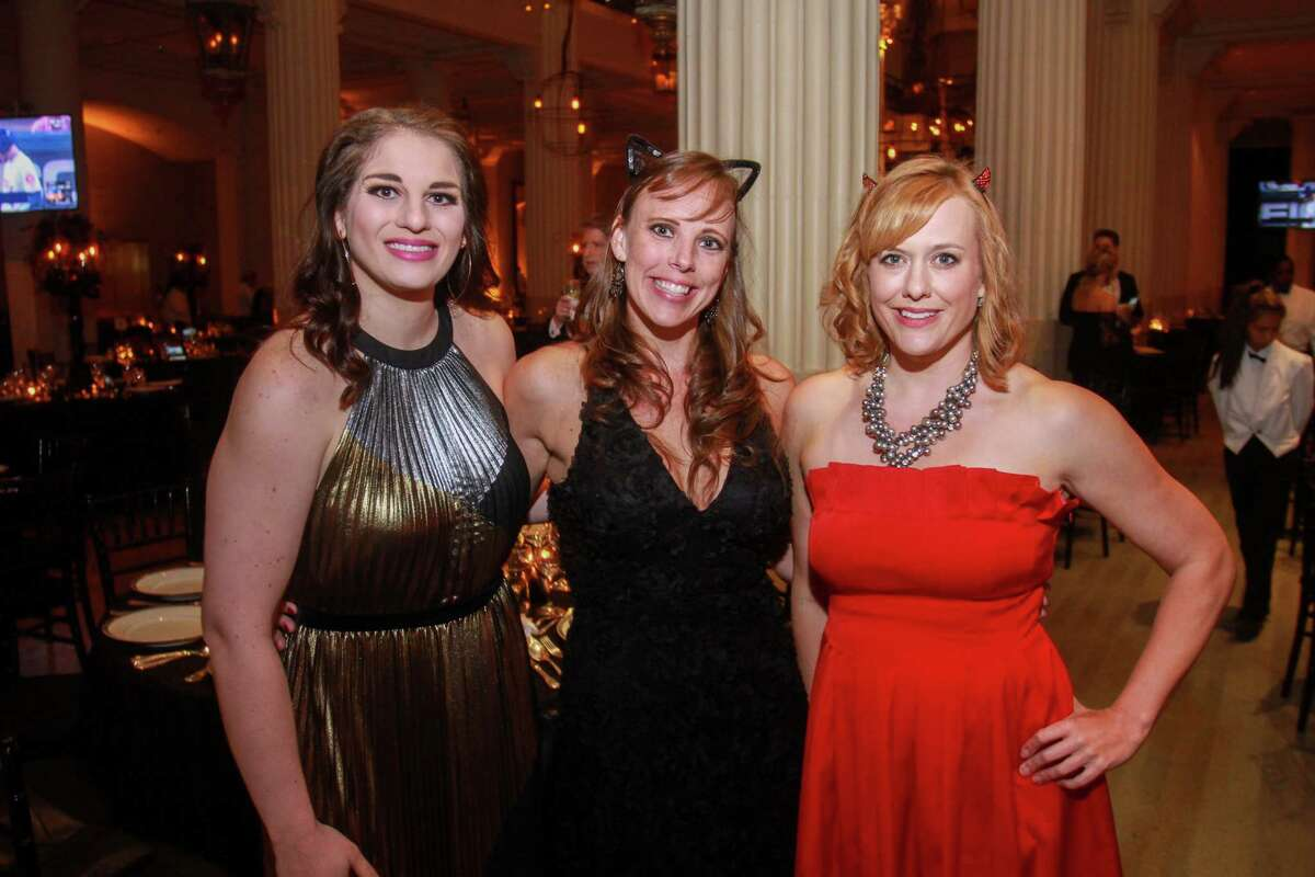 Jennifer Oliveri, from left, Katie Davis and Wendy Blevins at the Children's Museum of Houston gala at The Corinthian on October 12, 2019.