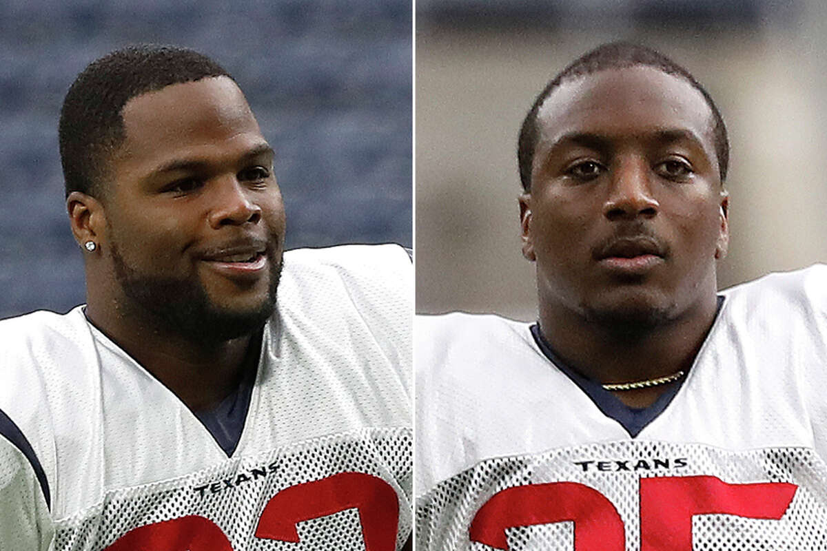 Carlos Hyde, left, and Duke Johnson have given the Texans an effective running-back duo after being acquired in trades during the preseason.