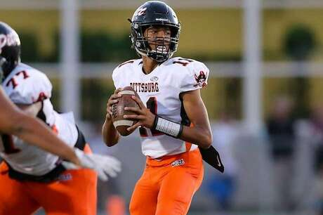 Pittsburg quarterback Jerry Johnson kept Pittsburg at No. 6 by passing for 164 yards and three touchdowns in a 56-10 home win over Bishop O'Dowd-Oakland on Friday Sept 13, 2019.