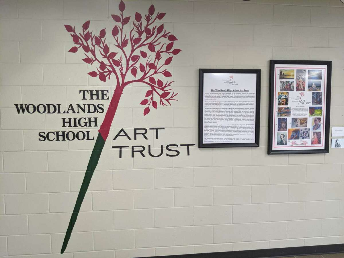 The Woodlands high School Art Trust was created to bring art into the school that the students may not otherwise have a chance to interact with. The trust is celebrating 10 years this school year.